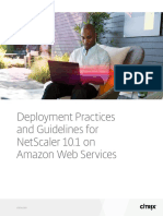 Deployment Practices and Guidelines for Netscaler 101 on Amazon Web Services