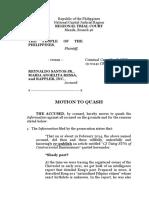 People v. Santos, Ressa, and Rappler Inc.   Motion to Quash
