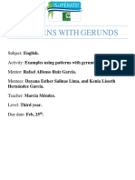 Patterns With Gerunds
