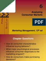 Analyzing Consumer Markets Chp 6