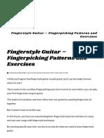 Fingerstyle Guitar - Fingerpicking Patterns and Exercises