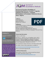 Structural Equation Modelling of Relationship between Teachers' Capacity Building and Students' Academic Performance in Secondary Schools in Kwara State, Nigeria