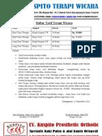 Daftar Tarif Terapi Wicara Update Okt 2010