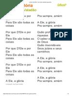 A ELE a GLÓRIA - Ana Paula Valadão (Impressão)