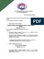 CTA Cronograma de Talleres Marzo 2019