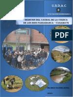 Informe Caudal 2013 Pariamarca