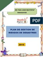 PLAN DE GESTIÓN DE RIESGO DE DESASTRES 2015 - IEI N° 282 -SJB.docx