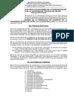 Convocatoria a Elecciones UTO
