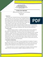 DEAR Project Team Leader-Narrative Report