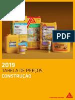 Tabela Preços - Sika (2019).pdf