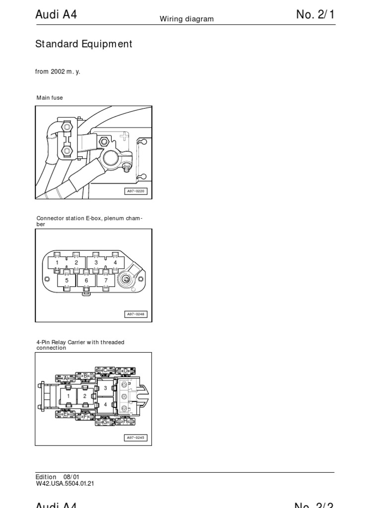 audi a4 b5 wiring diagram rh scribd com audi a4 diagram parts audi a4 exhaust diagram