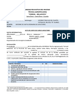 Acta Junta de Curso Uemtacb Supletorio