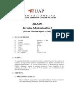 SILABO Derecho Administrativo I