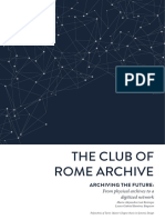The Club of Rome Archive, Archiving the Future, From Physical Archives to a Digitized Network