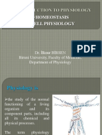 1.Introduction to Physiology, Homeostasis, Transport Systems and Cell Signaling