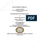 A Report on Air Powered Vehicle