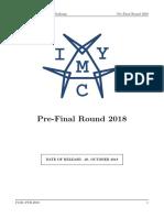 Pre Final Round Problems 2018 x3285s7f2