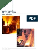 Steel Industry Demand Supply Last 5 Yrs & Company Plans