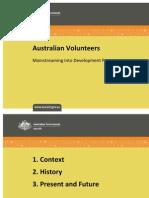 Mainstreaming Volunteer Activities into Development Programmes