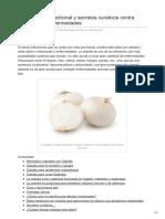 Cebolla Dieta Medicinal y Secretos Curativos Contra Infecciones y Enfermedades