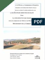 1 - Conclusions Et Avis de La Commission d'Enquête