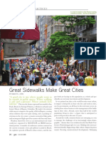 Great Sidewalks Make Great Cities