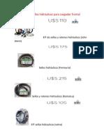 Cotización de Sellos Hidráulicos Para Cargador Frontal
