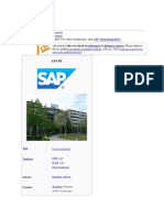 SAP SE full length document