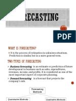 Forecasting Report Sample5