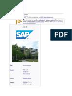 SAP SE DOC