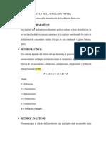 METODOS DE CALCULO DE POBLACION FUTURA
