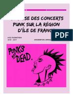 Analyse Des Concert Punk en Îles de France