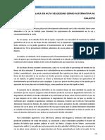 LA UTILIZACIÓN DE LA VÍA EN PLACA EN LÍNEAS DE ALTA VELOCIDAD  APLICACIÓN PRÁCTICA parte 2