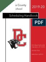 Scheduling Handbook 2019-20