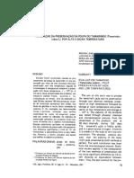 AVALIAÇÃO DA PRESERVAÇÃO DA POLPA DO TAMARINDO (Tamarindus indica L). POR ALTA E BAIXA TEMPERATURA