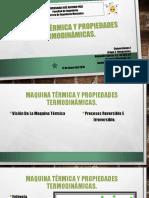 Maquina Térmica y Propiedades Termodinámicas
