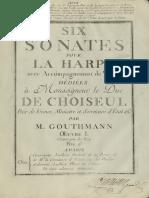 Gouthmann-Six Sonates Pour La Harpe