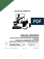 Analisis de Alimentos Guía Profesor