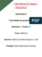 Actividad de Aprendizaje de Informatica
