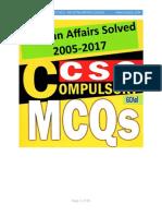 CSS Solved Papers 2005-2017  Pakistan Affairs (MCQs) gcaol.com.pdf