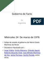 Gobierno de Facto