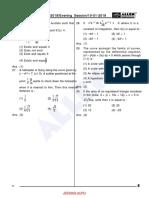 10 01 2019 JEE MAIN Evening Maths