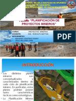 Planificacion de Proyectos Mineros