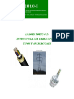 Guia de Laboratorio Nº2 El Cable Optico - Caracteristicas 2018-i