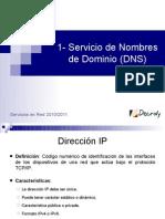 1- Servicio de Nombres de Dominio (DNS)