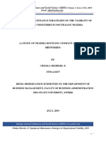 Equipment Maintenance Strategies on the Viability of Beverage Industries in South Sjbss