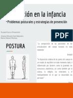 Prevención en La Infancia -Problemas Posturales y Estrategias de Prevención