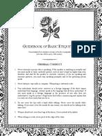 Guidebook of 19th Century Etiquette