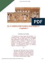 EL CAMINO INICIÁTICO ESOTÉRICO  - Capítulo I -