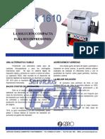 Brochure CR1610 y Costo Por Copias